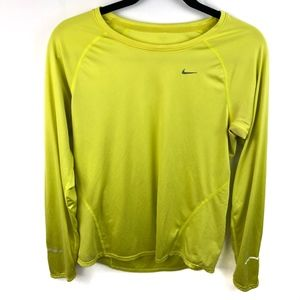 Nike Dri Fit Long Sleeve Athletic Top Logo